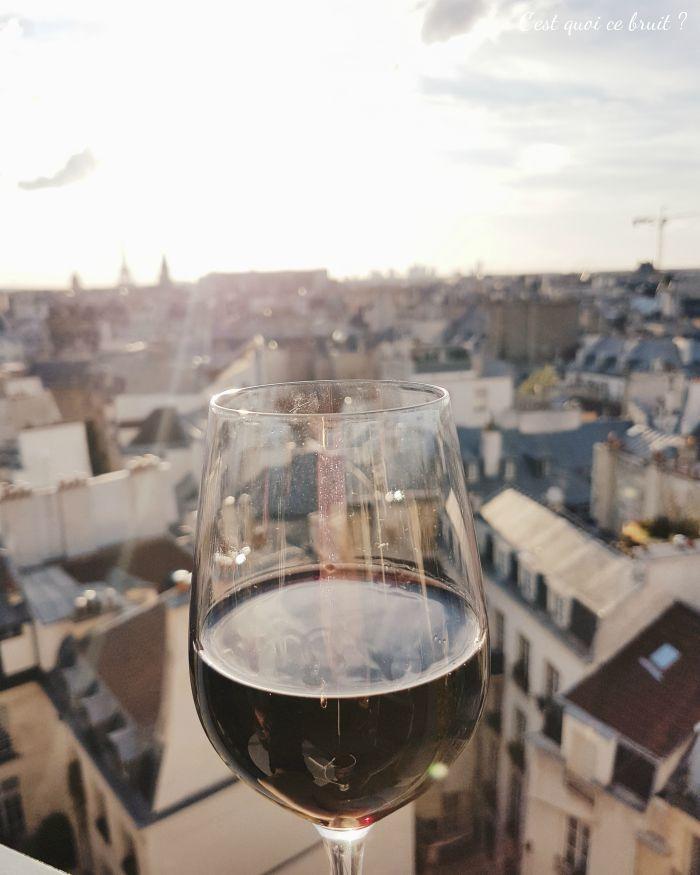 Prendre un verre de vin sur le rooftop de l'hôtel Holiday Inn Notre Dame à Paris IHGinfluencer