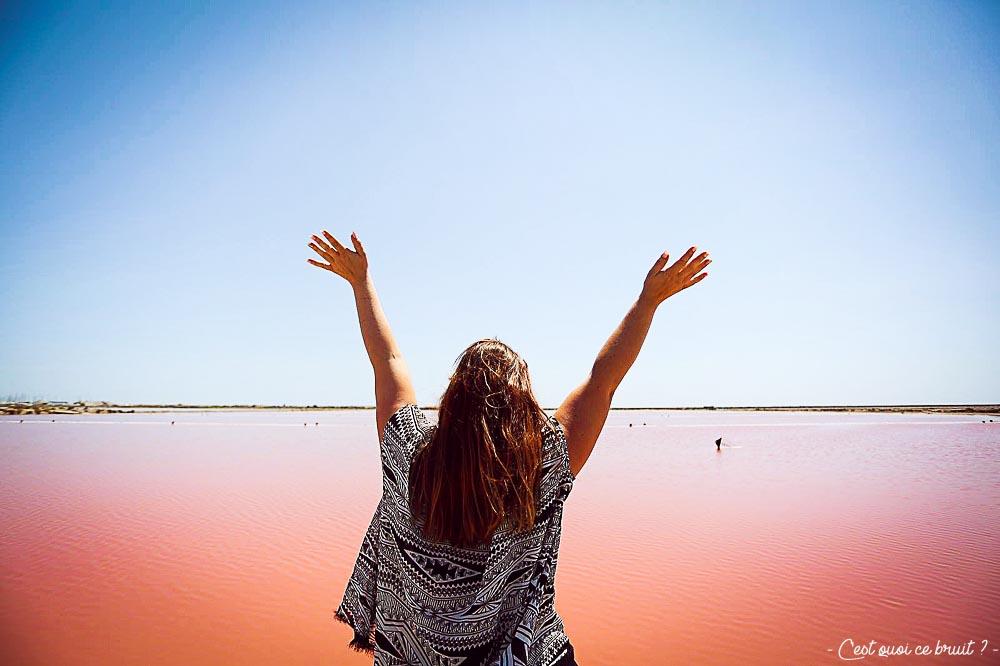 Salins de Gruissan et l'eau rose