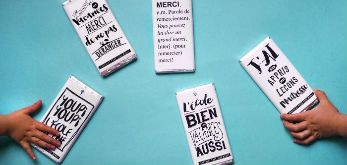 DIY cadeau maîtresse emballage chocolat