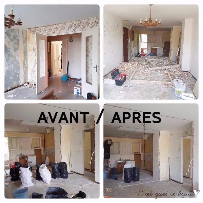 On a repeint la cuisine au masqu 39 carrelage avant apr s - Renovation maison avant apres ...