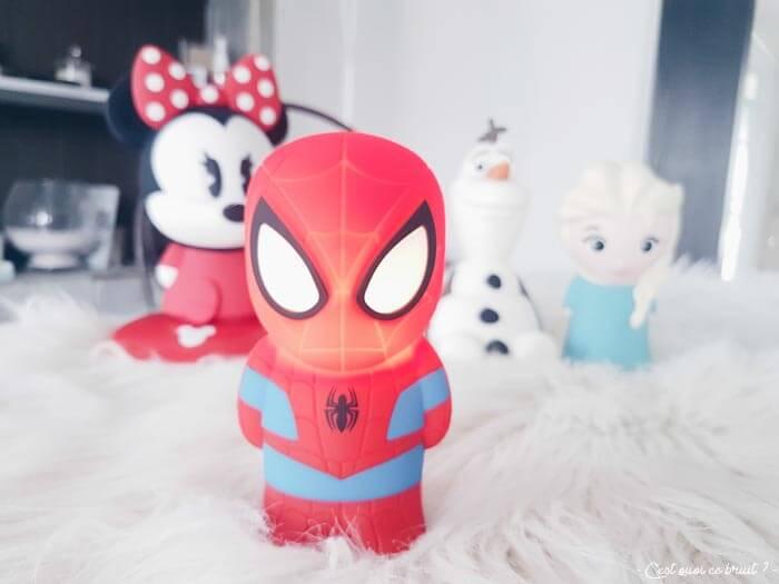 Test de la veilleuse Softpal Spiderman