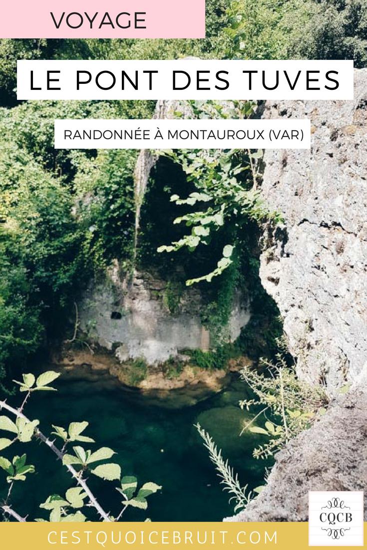 Idée de sortie dans le Var : randonnée au Pont des Tuves à Montauroux #var #sortie #famille #france
