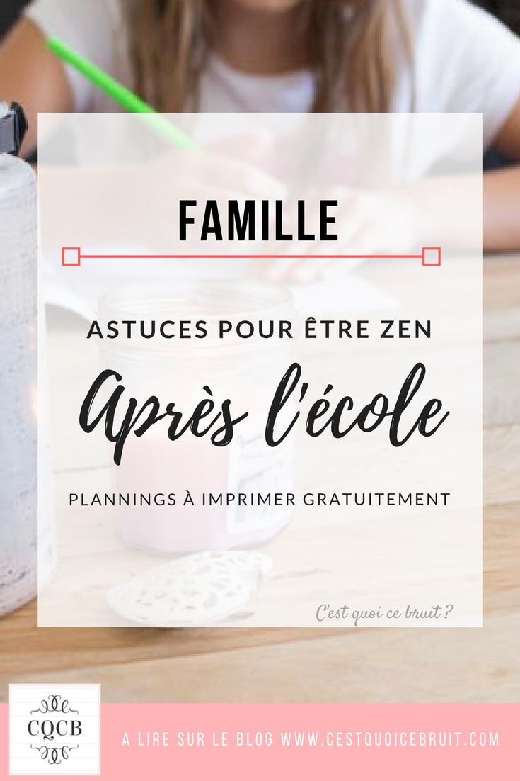 Blog famille : organisation pour être zen après l'école et faire les devoirs sans stress #famille #zen #organisation #feelgood #école