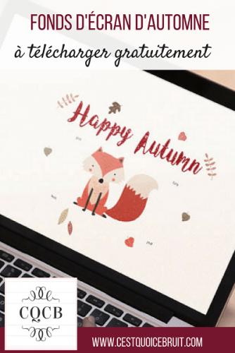 Fond d'écran automne à télécharger gratuitement sur C'est quoi ce bruit ? http://cestquoicebruit.com #freebies