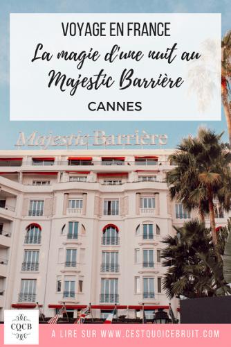Nuit en famille à l'hôtel Majestic à Cannes - blog voyage famille
