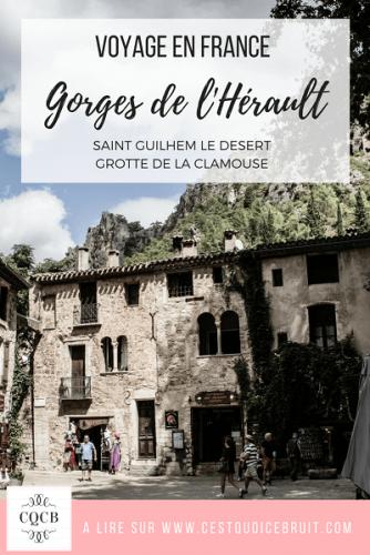 Voyage en France en famille : les gorges de l'Hérault