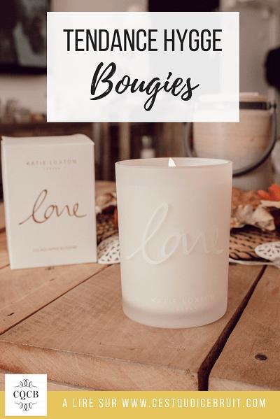 Décoration tendance hygge avec les jolies bougies parfumées pour une ambance cocooning à la maison #bougies #hygge #cocooning #home #automne #fall