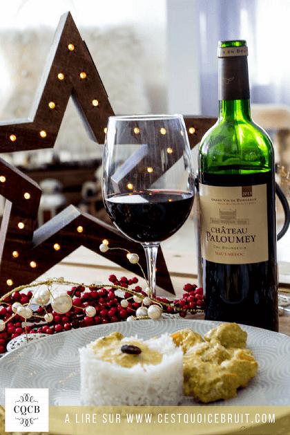Recette du poulet au curry à marier avec un vin de Bordeaux #recette #vin #poulet