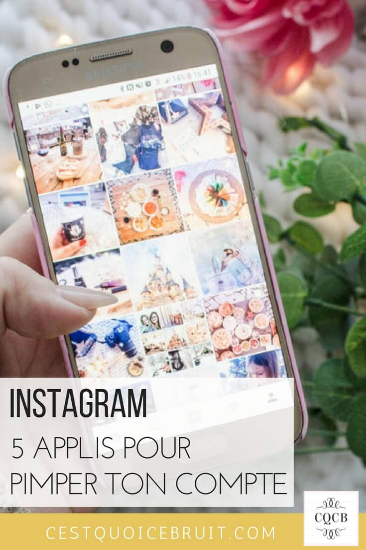 5 applis gratuites pour pimper ton Instagram #instagram #socialmedia #blog #blogging
