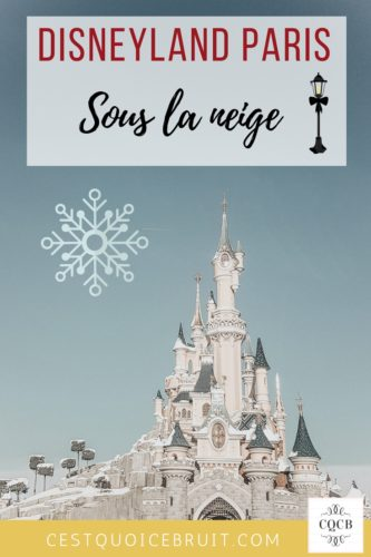 Disneyland Paris sous la neige #disney #disneylandparis #familytrip