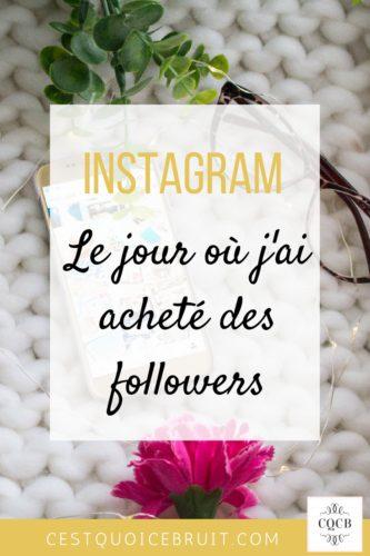 Instagram j'ai acheté des followers