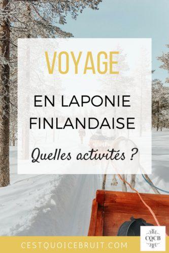 Activités pendant notre voyage en Laponie Finlandaise #laponie #finlande #voyage #travel #lapland
