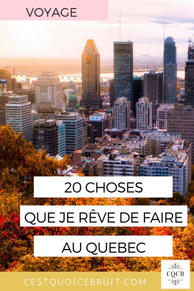 Blog voyage, 20 choses que j'aimerais faire à Québec #quebec #inspiration #blogvoyage #travel
