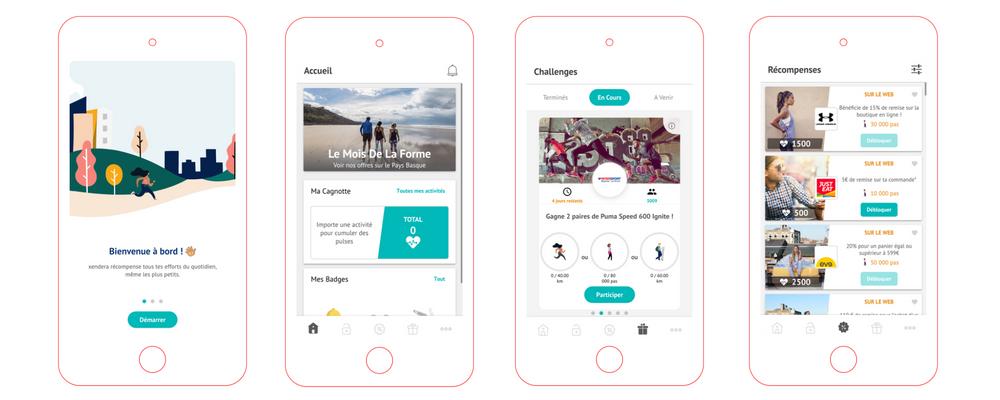 Xendera, l'application qui récompense votre activité physique