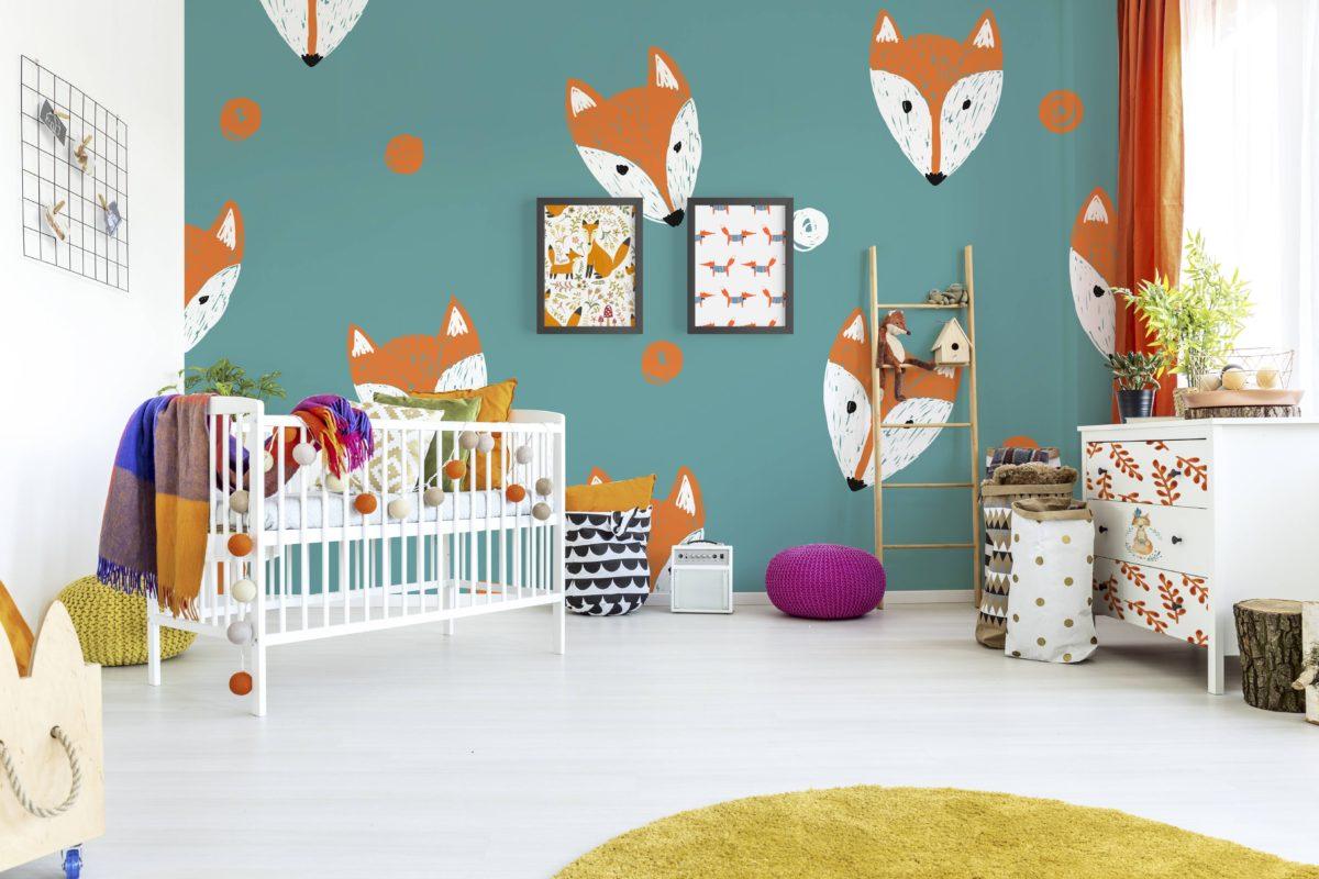 Décoration murale renards chambre d'enfant