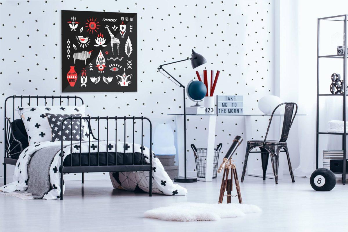 Décoration murale scandinave chambre d'enfant