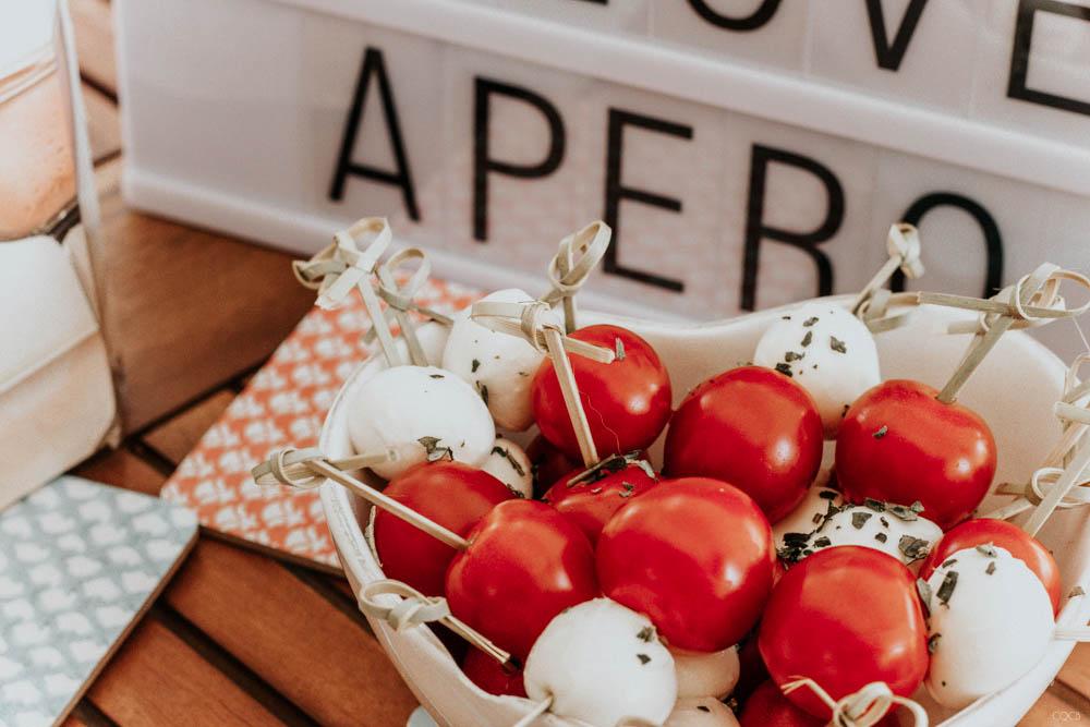 Brochettes tomate mozza pour un apéro réussi