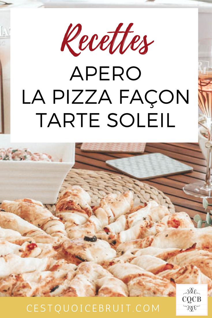 Pizza apéro façon tarte soleil #apero #recette #recipe #
