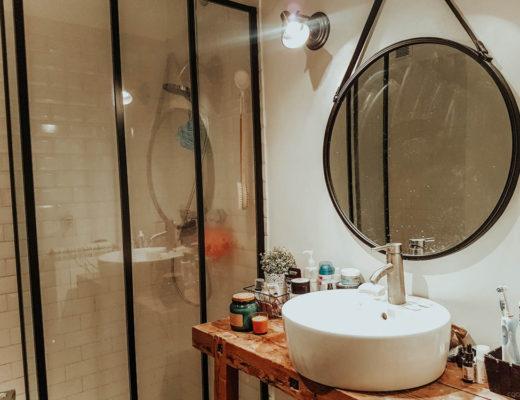 Rénovation de notre salle de bain avec paroi verrière