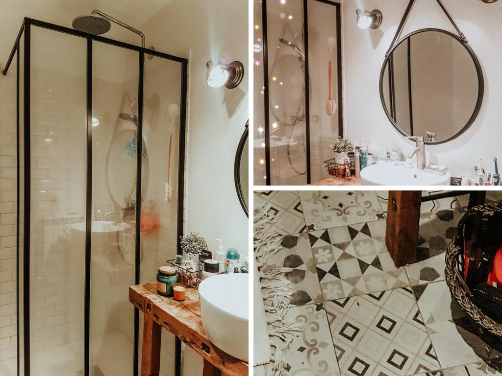 Rénovation de salle de bain avec décoration et carreaux de ciment
