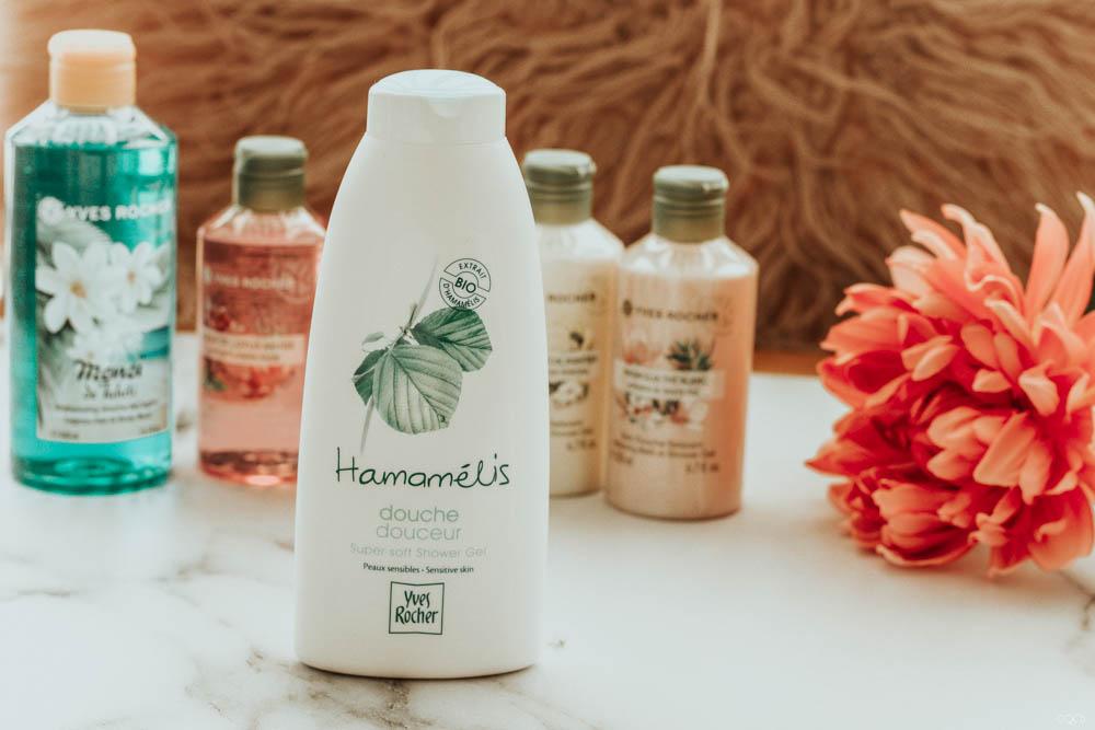 Test des produits Yves Rocher, le gel douche à l'hamamélis