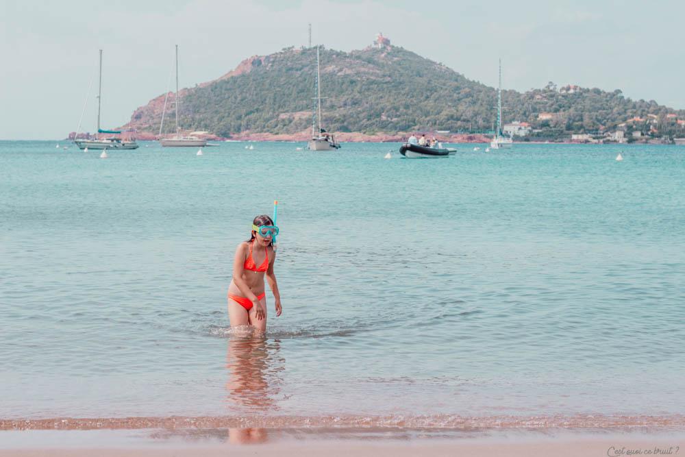 Week-end en famille à Agay : plage privée Agathos
