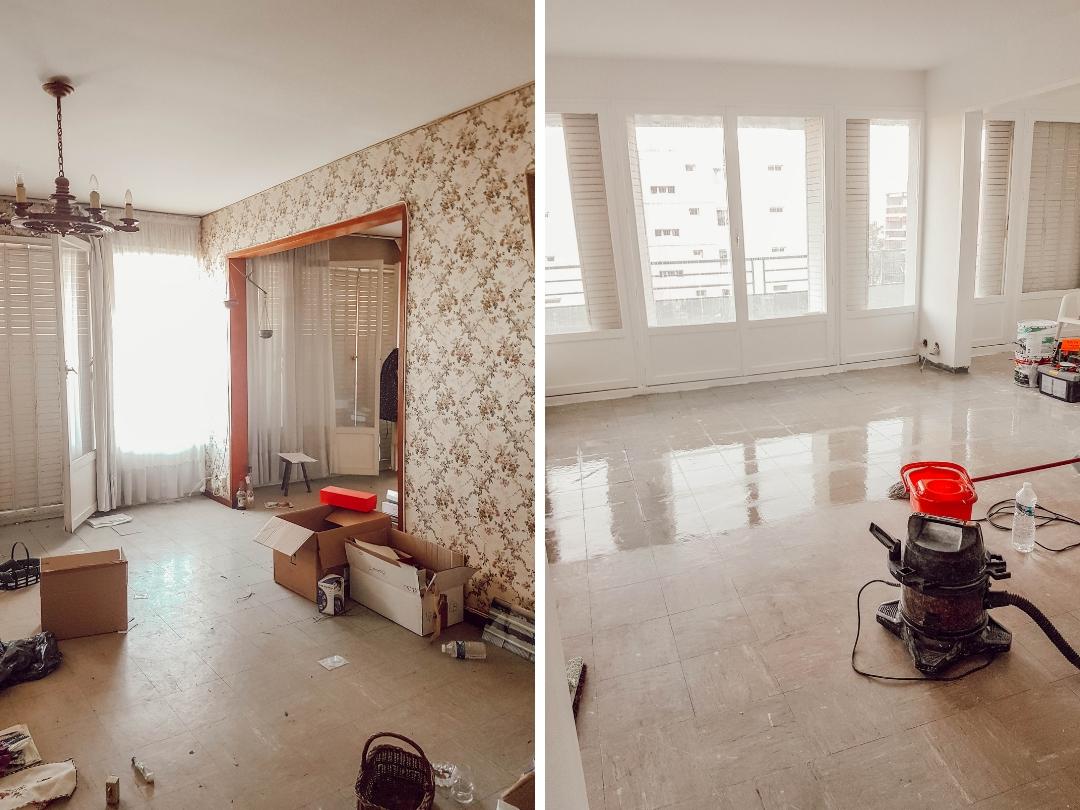 Relooker un intérieur vintage : avant après la pose du sol stratifié