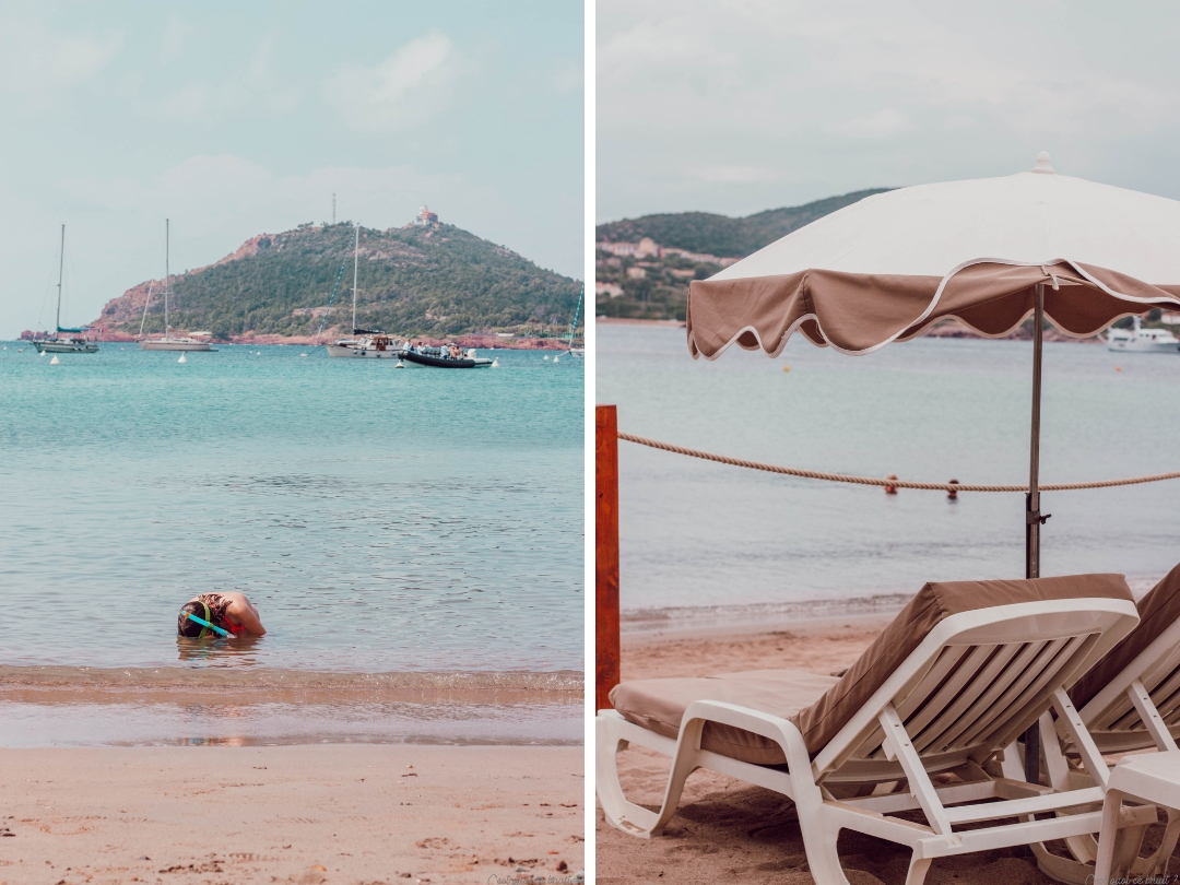 Agay Agathos plage privée