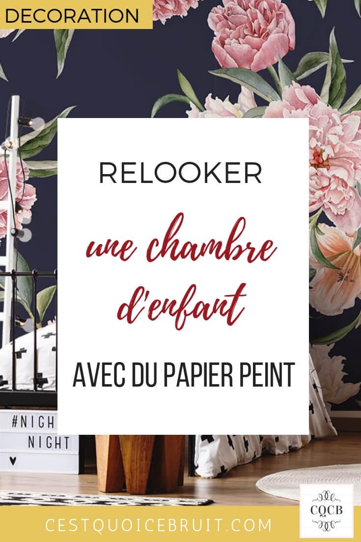 Décoration : relooker une chambre d'enfant avec du papier peint #décoration #chambre #kids #bedroom #deco ~relooking