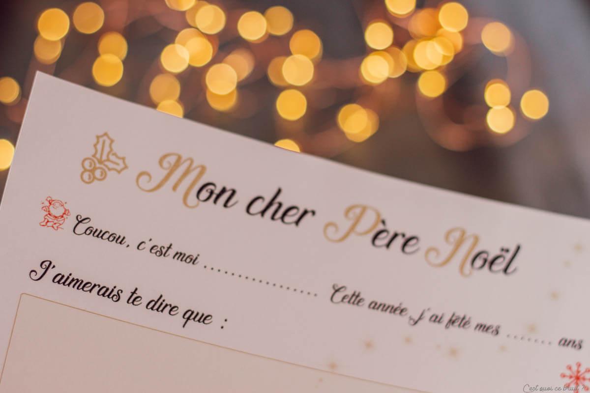 La lettre au Père Noël à imprimer gratuitement pour les enfants