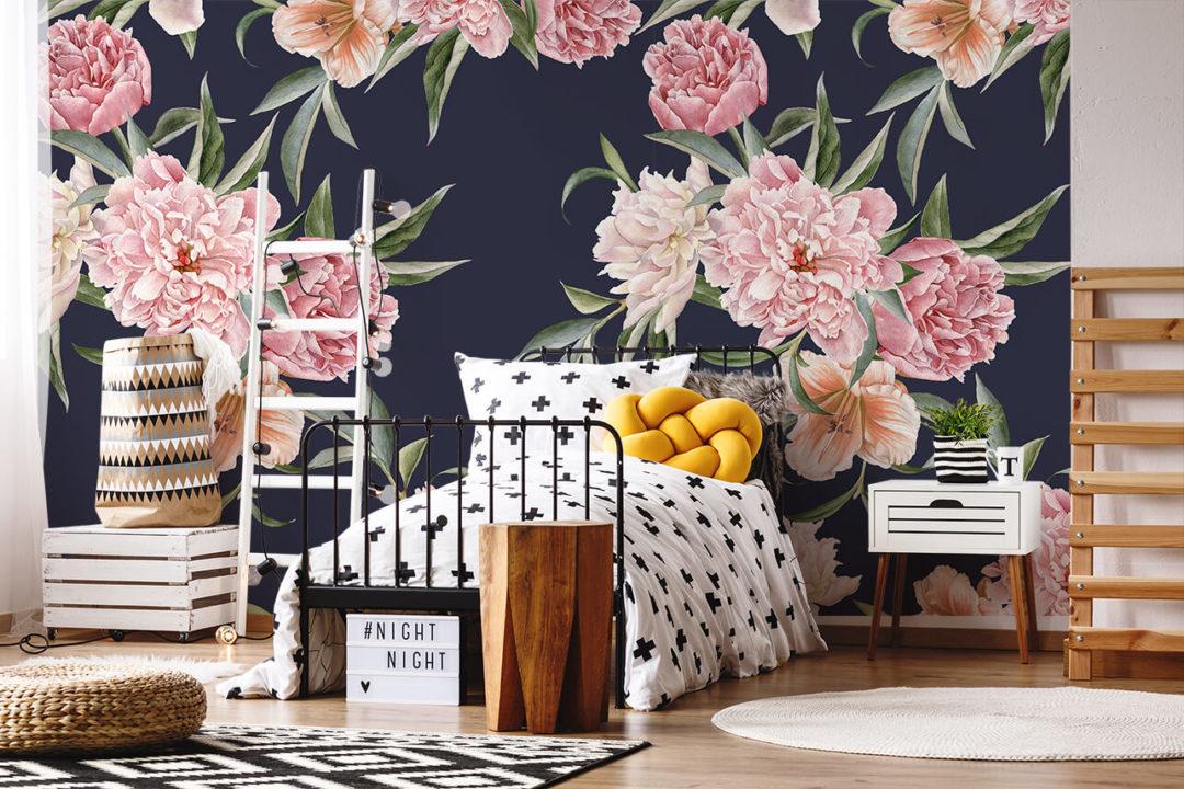 relooker une chambre d 39 enfant avec du papier peint concours. Black Bedroom Furniture Sets. Home Design Ideas