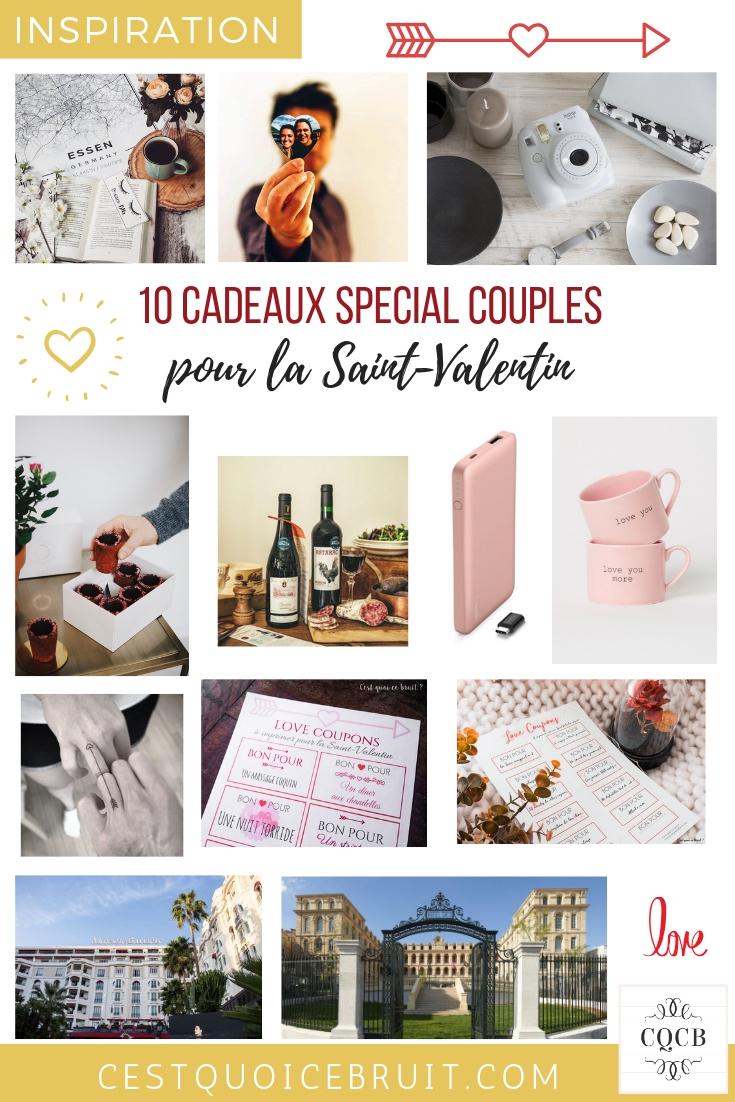 10 cadeaux pour les couples à s'offrir à la Saint Valentin #saintvalentin #amour #love #couple #couplegoals